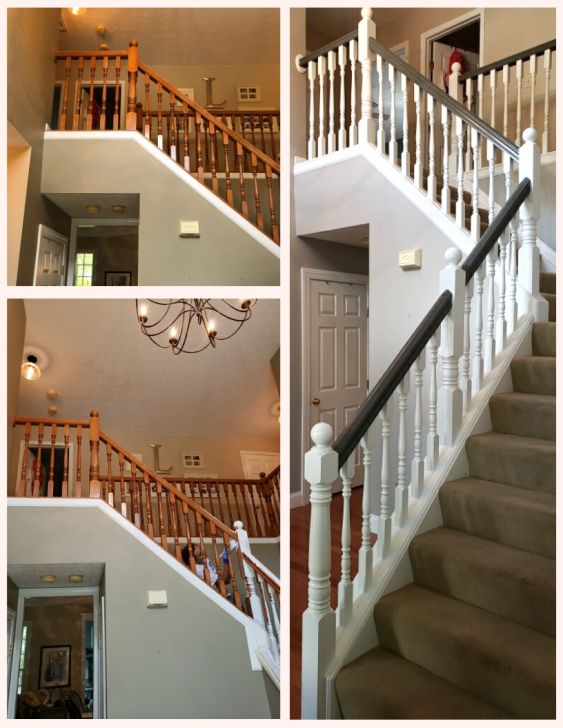 Sensational White Stair Handrail Photo 411