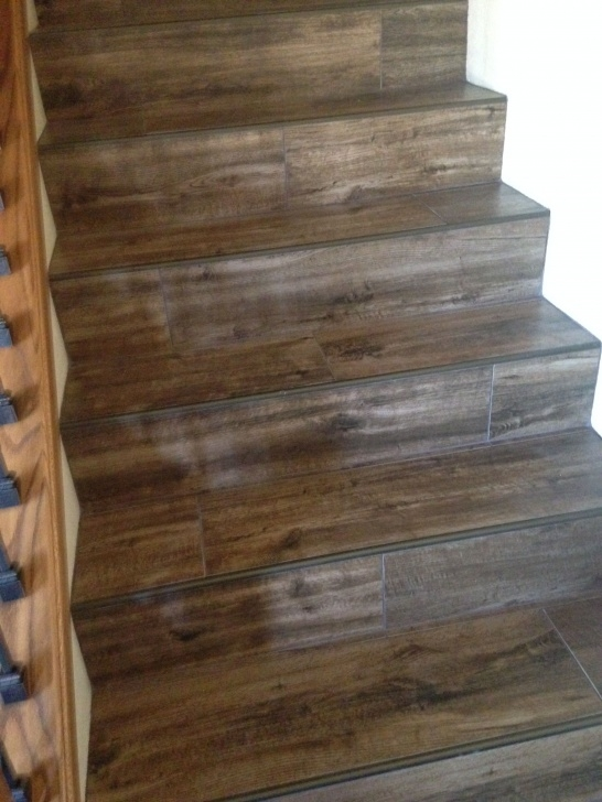 Sensational Wood Look Tile On Stairs Picture 975