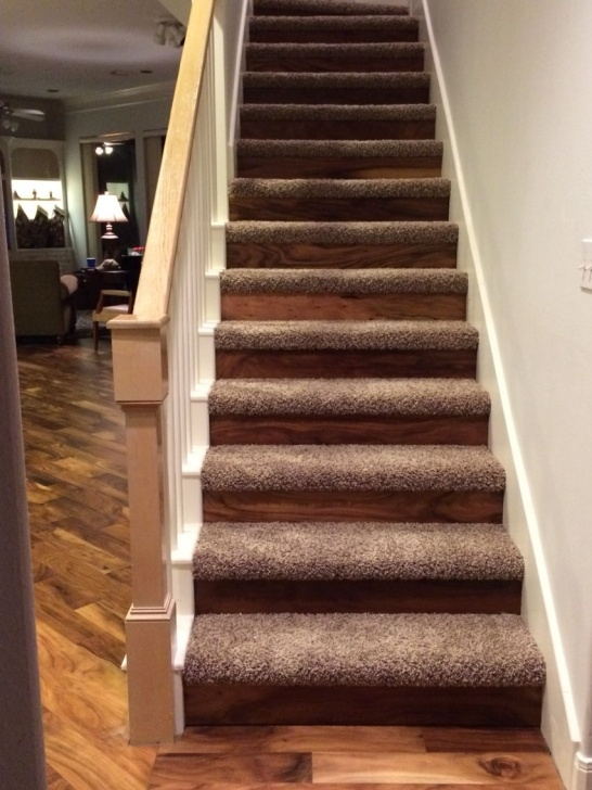 Simple Carpet On Hardwood Stairs Picture 685