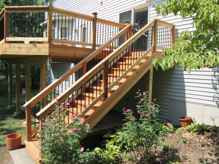 Simple Deck Stairs Design Photo 222