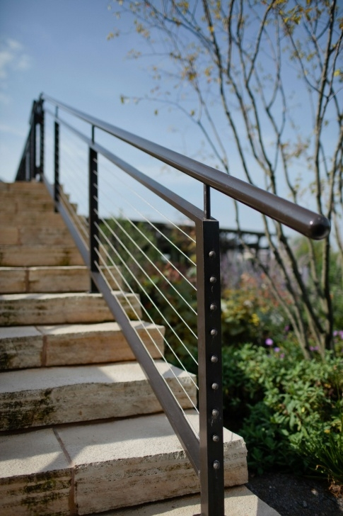 Simple Exterior Metal Stair Railing Image 641