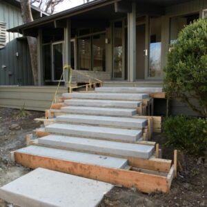 Floating Concrete Steps Designs