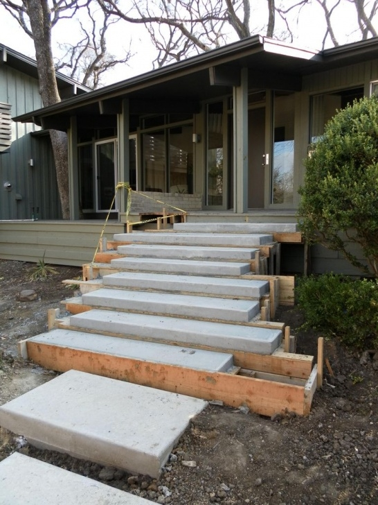 Simple Floating Concrete Steps Designs Photo 738