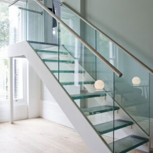 Glass And Chrome Banisters