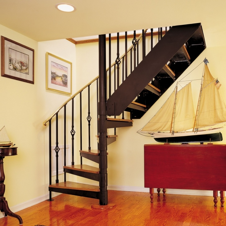 Simple Half Spiral Staircase Image 561