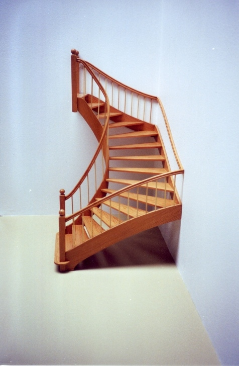 Simple Half Spiral Staircase Photo 547