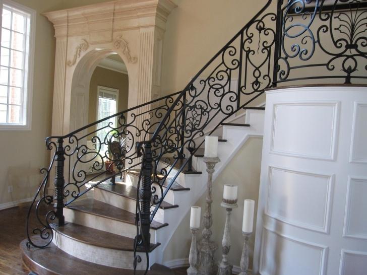 Simple Interior Iron Stair Railing Image 350