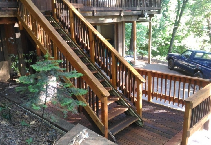 Simple Outdoor Deck Stairs Photo 484