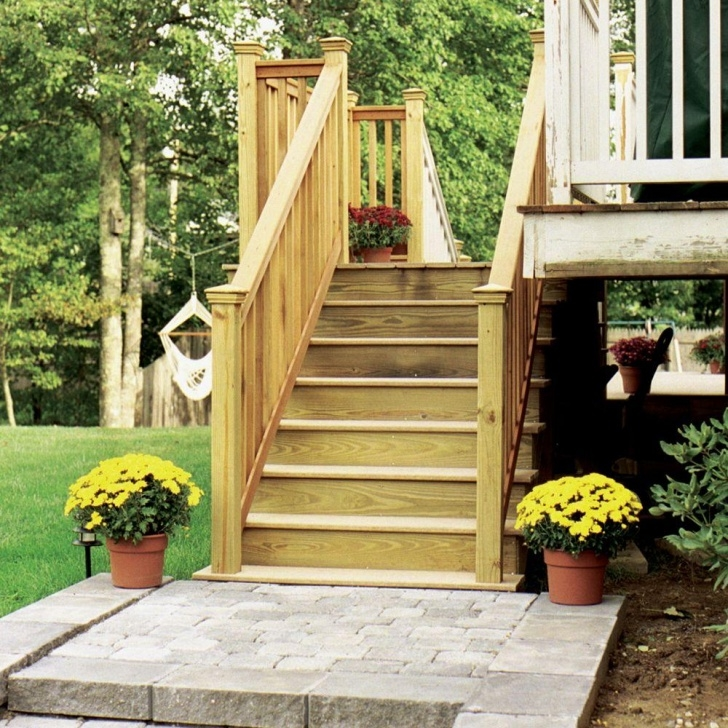 Simple Prefab Stairs Outdoor Home Depot Image 371