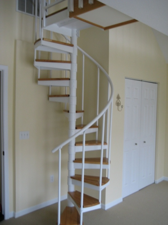 Simple Spiral Staircase To Attic Photo 647