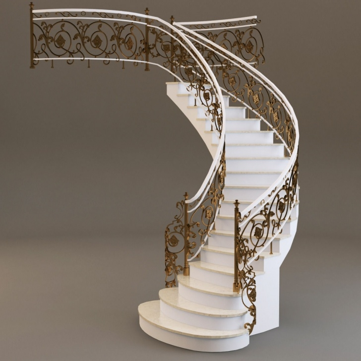 Simple Staircase 3D Design Photo 998