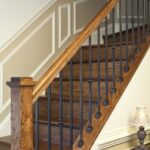 Simple Wood And Iron Stair Railing Photo 080
