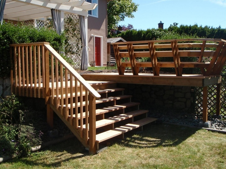 Simple Wood Deck Stairs Designs Image 389