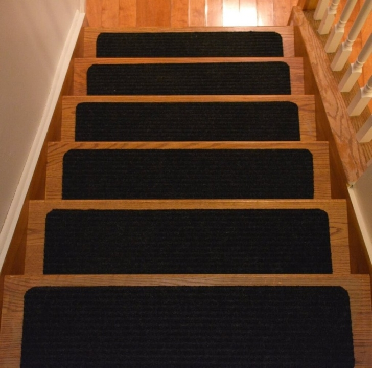 Splendid Black Carpet Stair Treads Picture 557