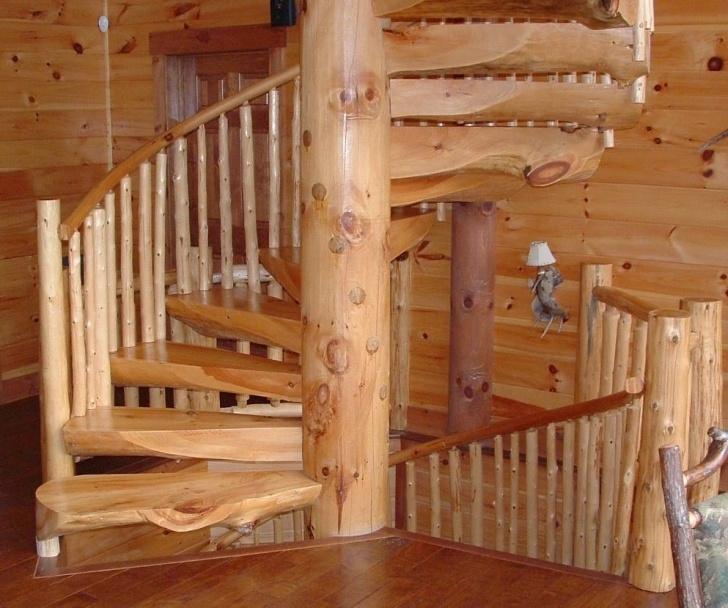 Splendid Rustic Spiral Staircase Image 544