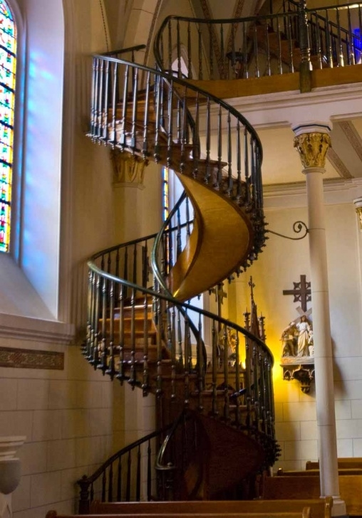Splendid Spiral Staircase Loretto Chapel Picture 978
