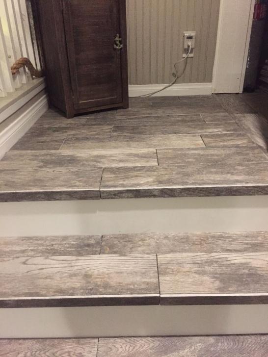 Splendid Wood Look Tile On Stairs Image 536