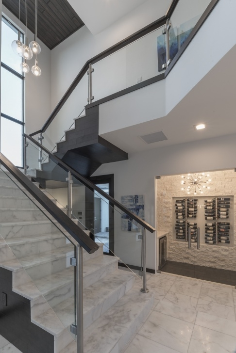Splendid Wooden Staircase With Glass Panels Photo 580