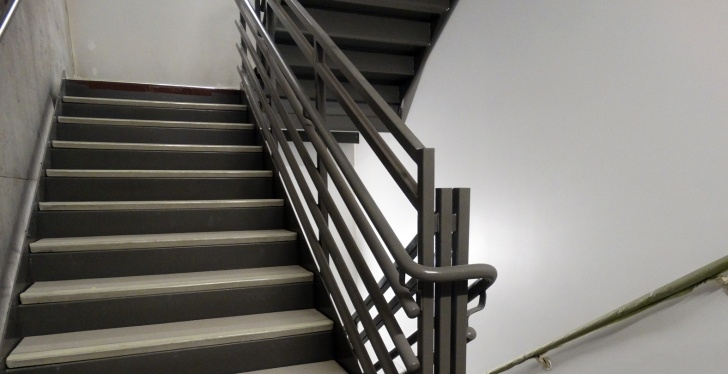Stunning Metal Pan Concrete Stairs Photo 637