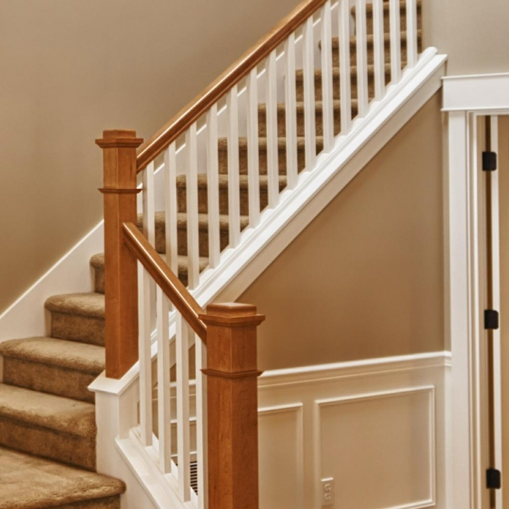 Stunning Oak Stair Rail Photo 590