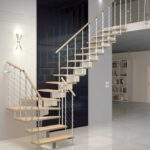 Stunning Quarter Turn Staircase Design Photo 400