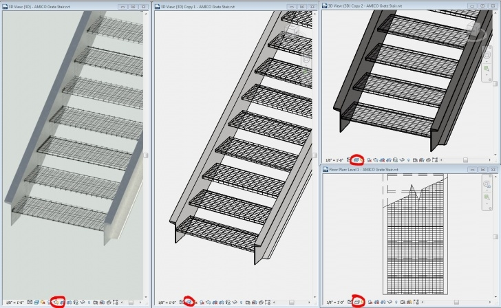 Stunning Revit Metal Stairs Picture 734