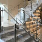 Stunning Staircase Railing With Glass Photo 362