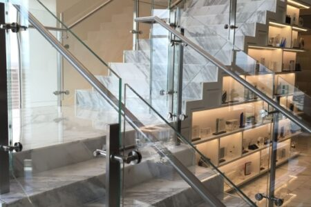 Staircase Railing With Glass