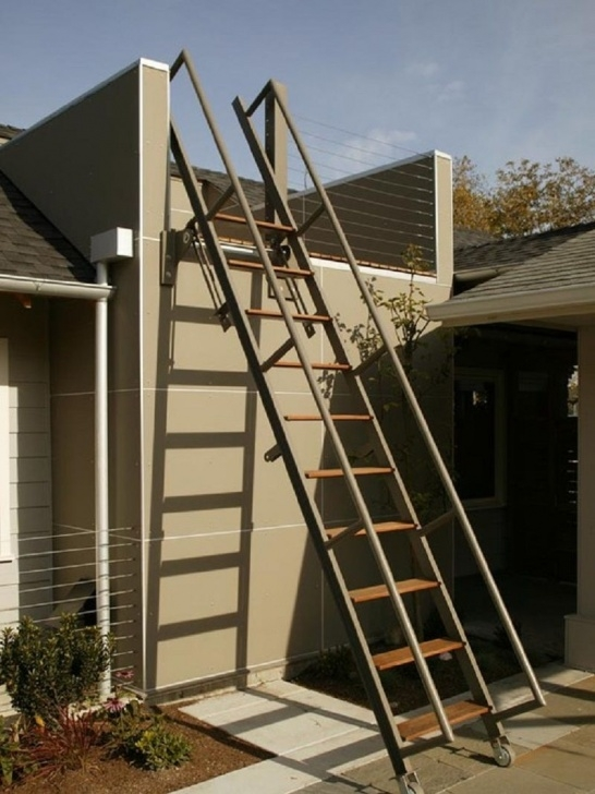 Stunning Staircase Rooftop Design Image 017