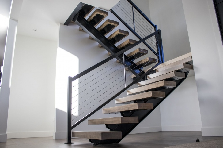 Stunning Steel Floating Stairs Photo 718