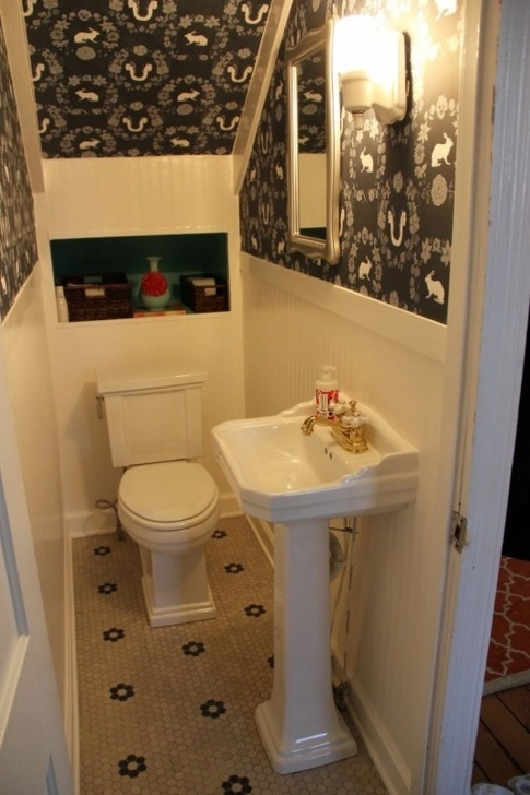 Stunning Under Stair Toilet Design Photo 652