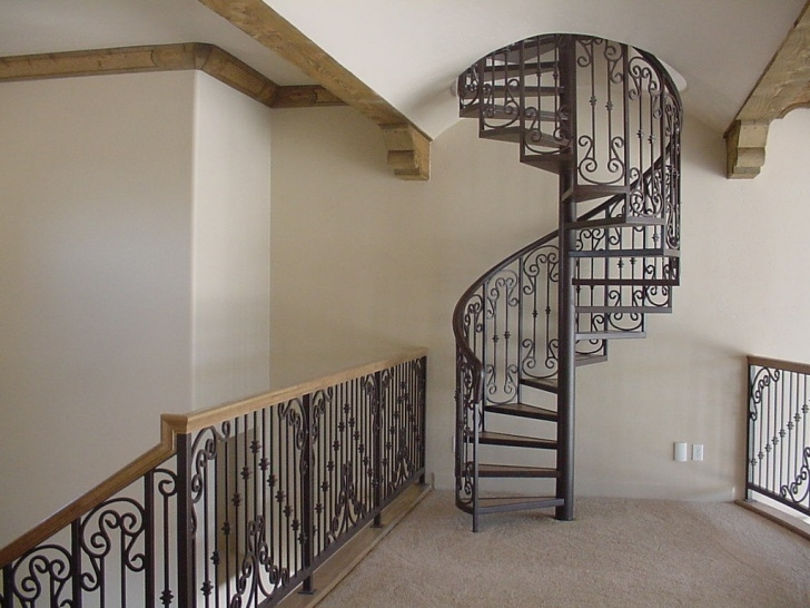 Stunning Wrought Iron Spiral Staircase Photo 548
