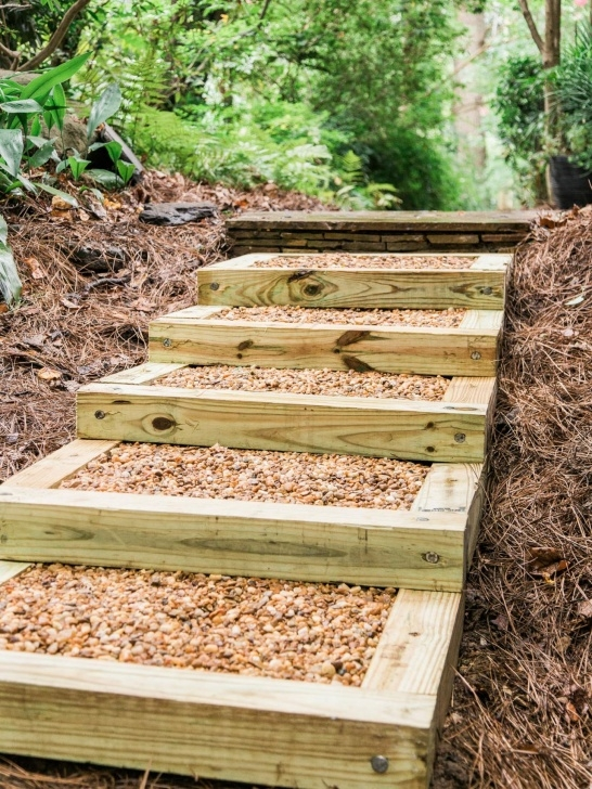 Stylish 6X6 Timber Steps Image 610