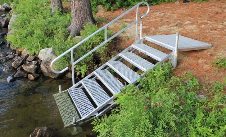 Stylish Aluminum Steps With Handrail Picture 124