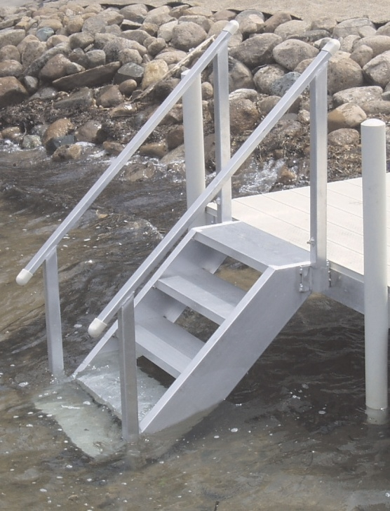 Stylish Aluminum Steps With Handrail Picture 179