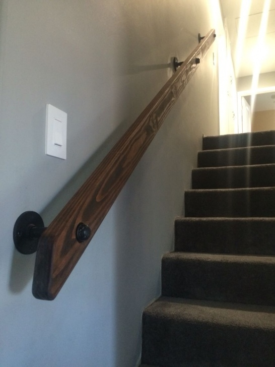 Stylish Basement Stair Handrail Picture 259