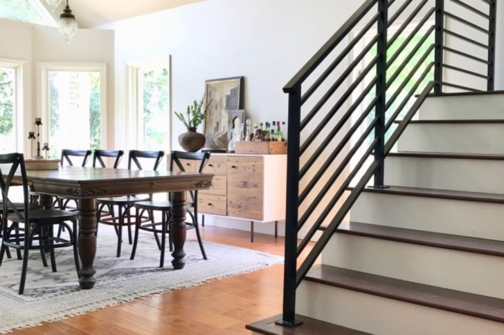 Stylish Black Metal Railing For Stairs Picture 219