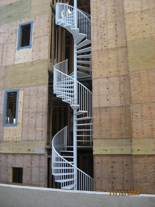 Stylish Cast Aluminium Spiral Staircase Photo 171