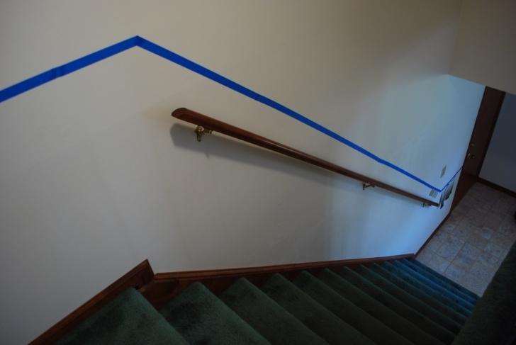 Stylish Chair Rail On Stairs Photo 003