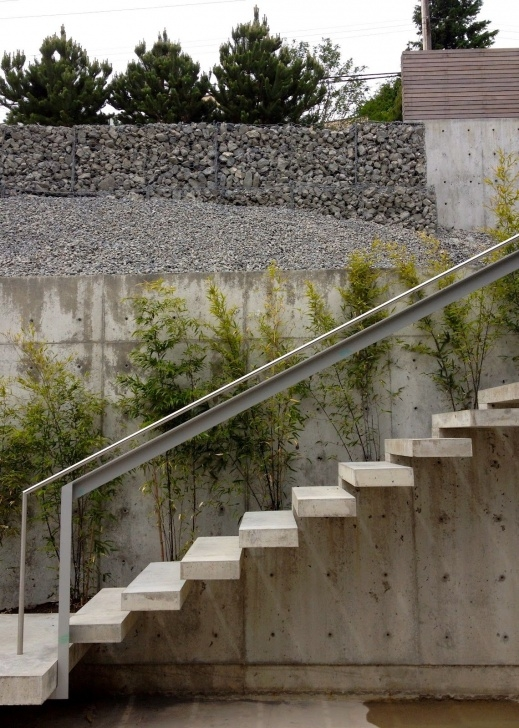 Stylish Concrete Exterior Stairs Picture 553