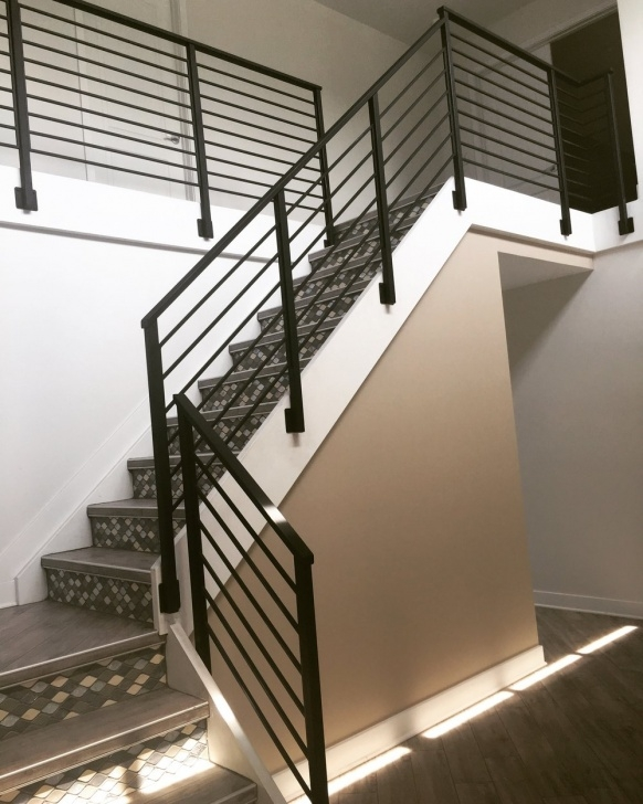 Stylish Contemporary Stair Railing Photo 039
