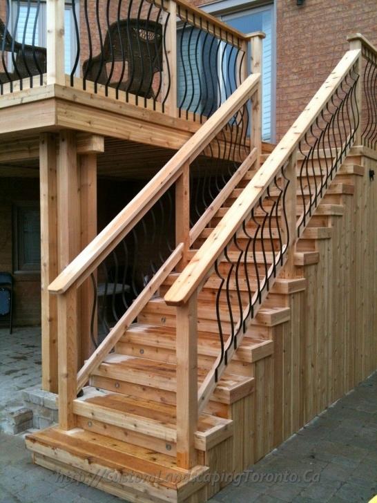 Stylish Deck Stairs Design Photo 617