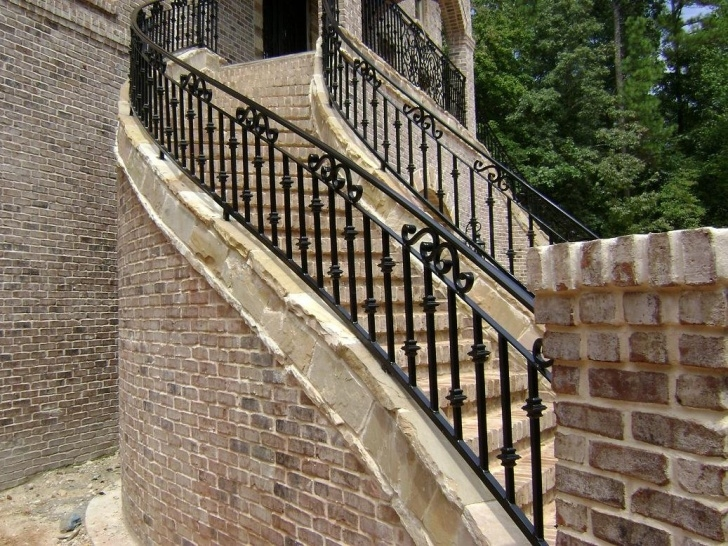 Stylish Exterior Wrought Iron Railings Home Depot Image 204