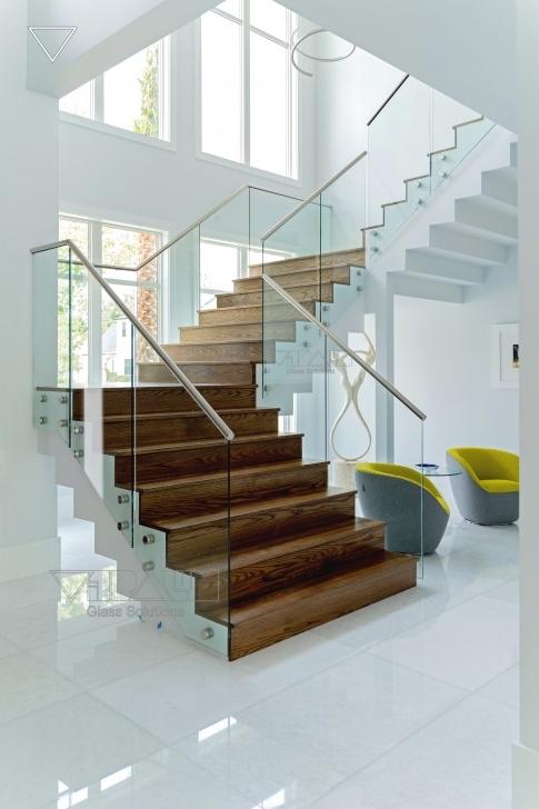 Stylish Glass Stair Railings Interior Photo 290