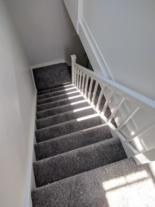 Stylish Grey Carpet Stairs And Landing Image 808