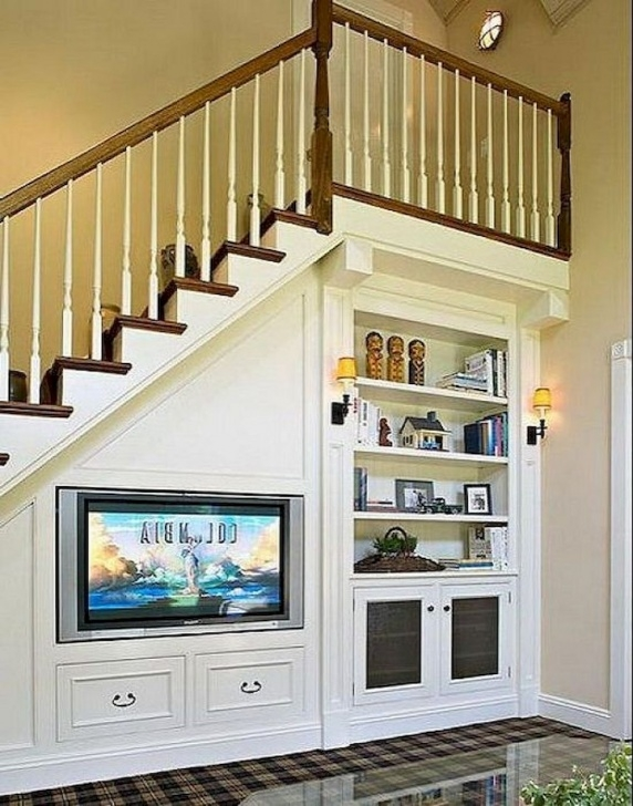 Stylish Living Room Design Under Stairs Image 321