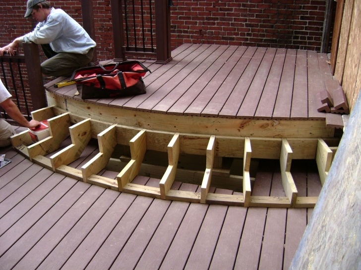 Stylish Making Steps For Decking Picture 918