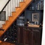 Stylish Mini Bar Design Under The Stairs Picture 352