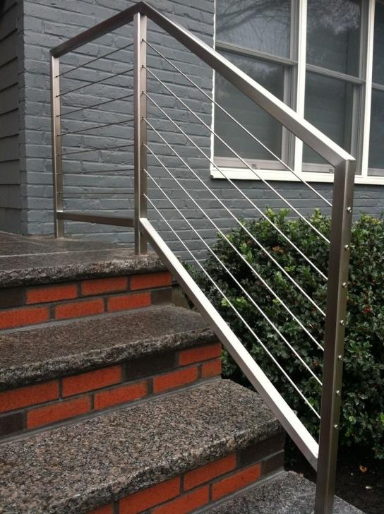 Stylish Modern Outdoor Stair Railing Image 982