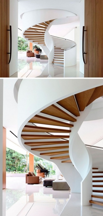 Stylish Modern Spiral Staircase Picture 818